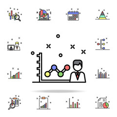 personal growth characteristic colored icon. Business charts icons universal set for web and mobile