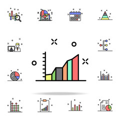 growth chart colored icon. Business charts icons universal set for web and mobile
