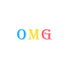 Oh my God, expression sticker icon. Element of photo stickers icon for mobile concept and web apps. Sticker Oh my God, expression icon can be used for web and mobile