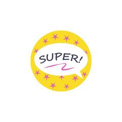 Super, Hero sticker icon. Element of photo stickers icon for mobile concept and web apps. Sticker Super, Hero icon can be used for web and mobile