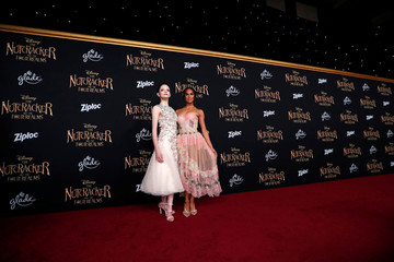 "Cast members Foy and Copeland pose at the premiere for ""The Nutcracker and the Four Realms"" in Los Angeles"