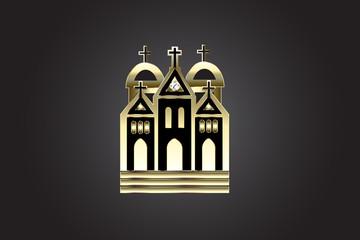 Church logo gold vector