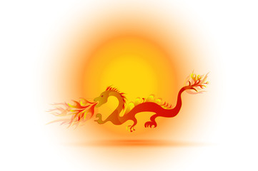 Dragon logo icon vector image