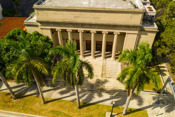 Aerial image of the Church of Christian Scientist Miami