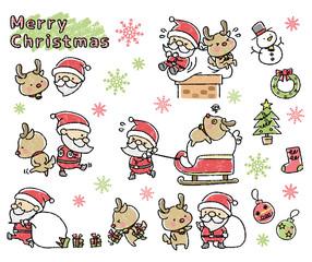 クリスマス 手書き風 セット