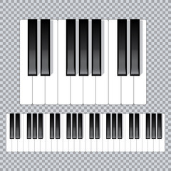 Piano keyboard diagram - piano keyboard layout    on white background vector illustration