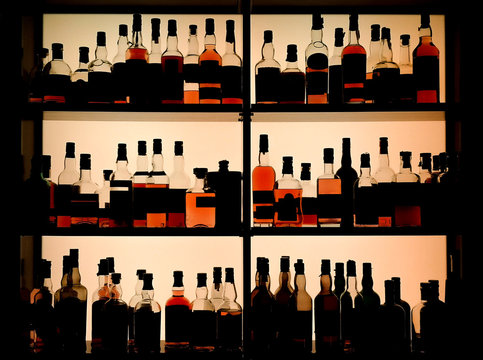 Various bottles of alcohol