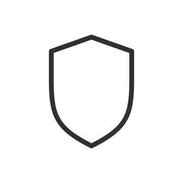 shield line icon, outline vector illustration, linear pictogram isolated on white.