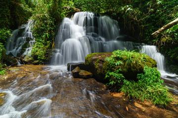 Smooth falling water