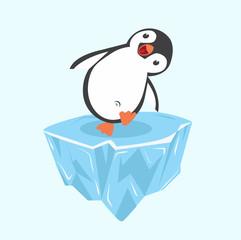 penguin happy on ice floe