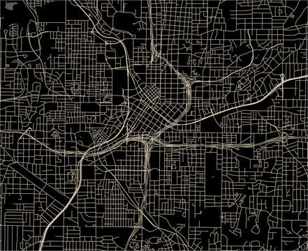 map of the city of Atlanta, USA