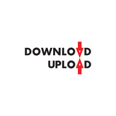 UPLOAD and DOWNLOAD word design