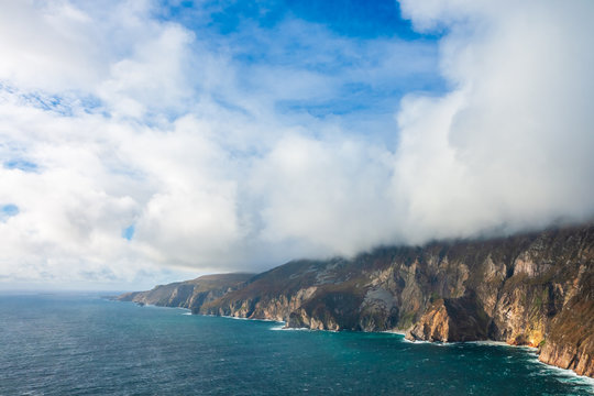 Dramatic scenery of Slieve League Cliffs, county Donegal, Ireland