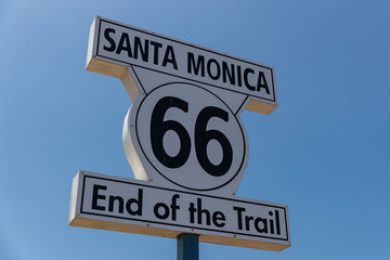End of Route 66.