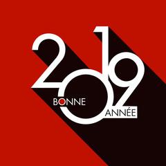 Carte de vœux 2019, pour entreprises et start-up, design et tendance, pour présenter les objectifs de nouvelle année.