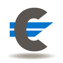 Euro currency icon symbol. Eur logo. European Finance Money Vector Sign.