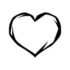 Black heart tattoo symbol.