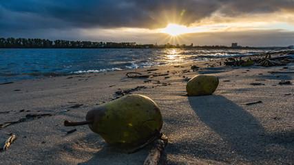 Birnen am Strand von Hamburg