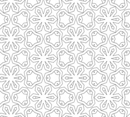 vector black and white  seamless pattern