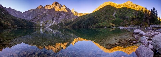 Fototapeta Alpine lake in Tatras, Morskie Oko, Poland obraz