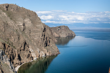 Northern coast of island Olkhon on lake Baikal