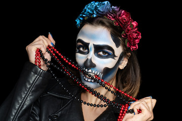 skull art make up