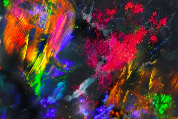 Abstract multicolor space background. Black opal background.