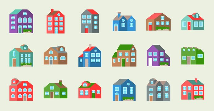 house or cottage icon,flat design vector