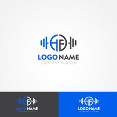 HF Letter Fitness Company Logo