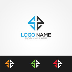 S2 Letter Logo Vector Illustration