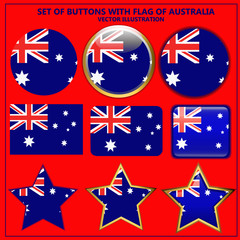 Set of banners with flag of Australia.
