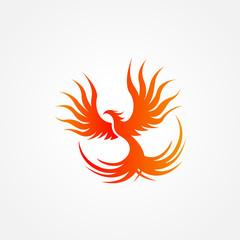 Phoenix Logo Design Vector Illustration