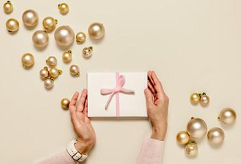 Christmas feminine gift concept