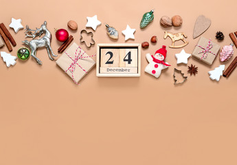 Noel or Christmas background