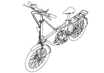 sketch bicycle vector