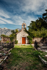 Cemetery Church in the village of Donji Stoliv on Boka Kotorska, Montenegro