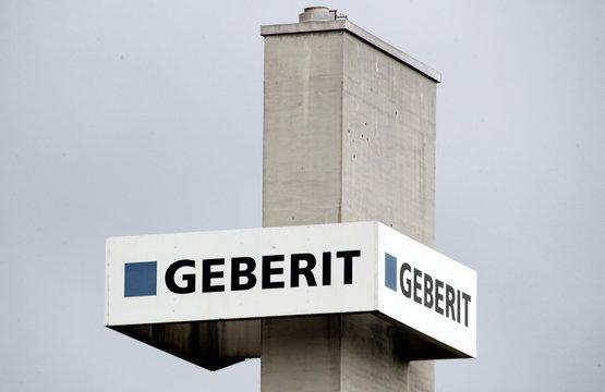 Logo of shower toilet and plumbing supplies maker Geberit is seen in Rapperswil-Jona