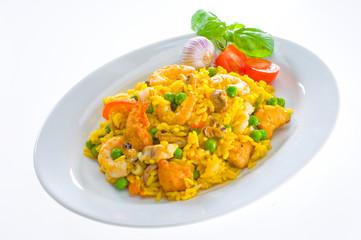 Paella, Sea food, Meeresfrüchte
