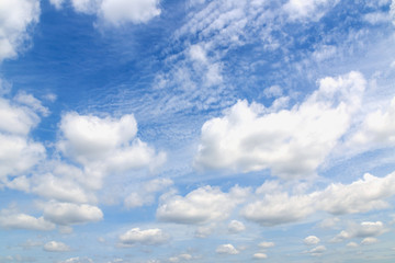 White  clouds on sky ,nature background