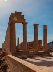 Lindos Temple columns