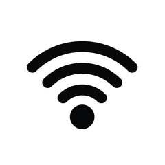 wireless network wifi icon on white background