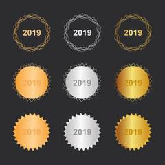 2019 - Bronze, Silber, Gold Medaillen