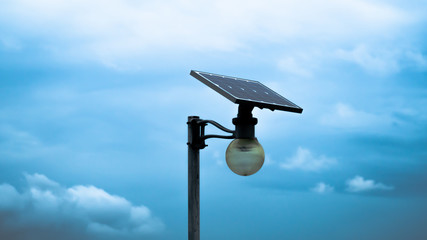 Small solar cell lighting with clean energy. Fotomurales