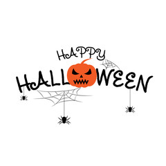 Happy Halloween vector lettering text vector white background