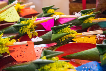 Thai flower Cone of worship in the religious rituals.