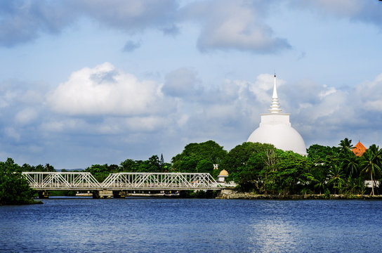 View of the temple Kalutara. Sri Lanka
