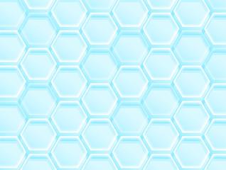 透明感のある六角形の背景