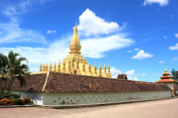 The famous Patuxai of Vientiane, one of the landmarks of the city
