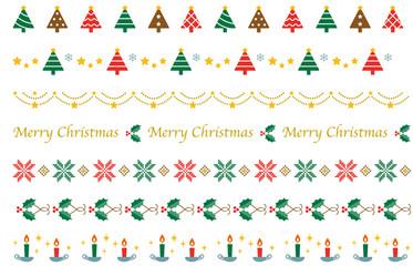 クリスマスの飾り線 シンプルモダン