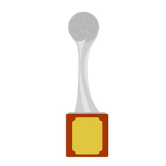 Isolated soccer trophy image. Vector illustration design